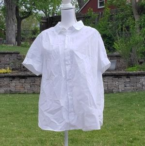 Roman's white button up short sleeve shirt 22W